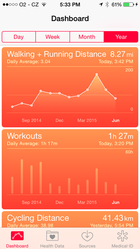 Health app screenshot