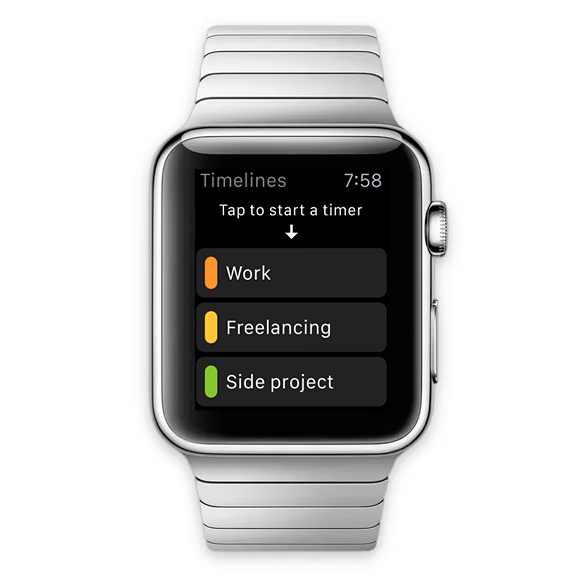 Timelines Apple Watch screenshot
