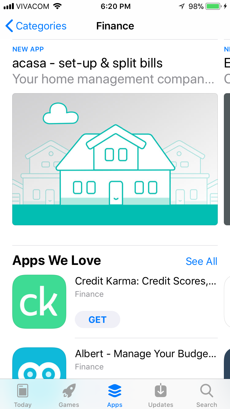 New App Store Finances category