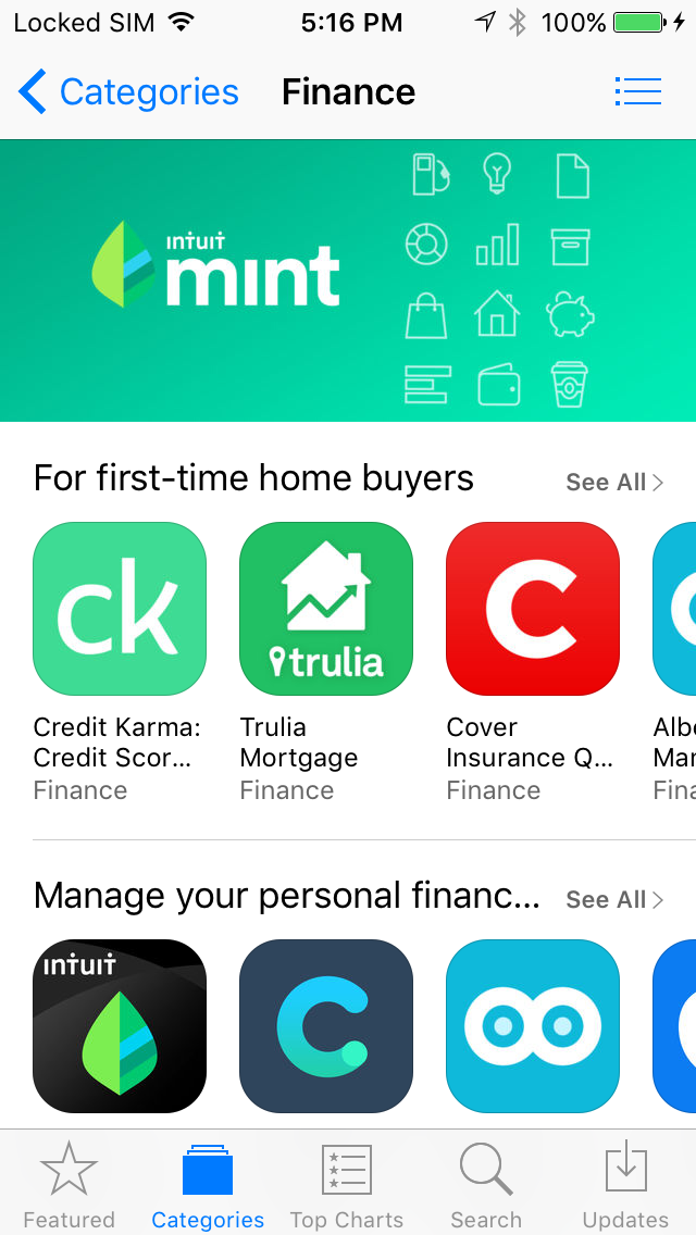 New App Store Apps Tab